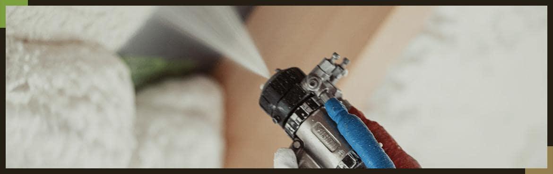 Zbliżenie na pistolet natryskowy